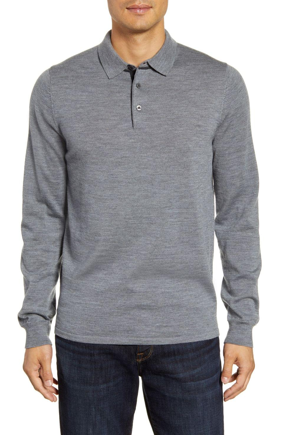 Men's Nordstrom Men's Shop Merino Wool Polo Sweater