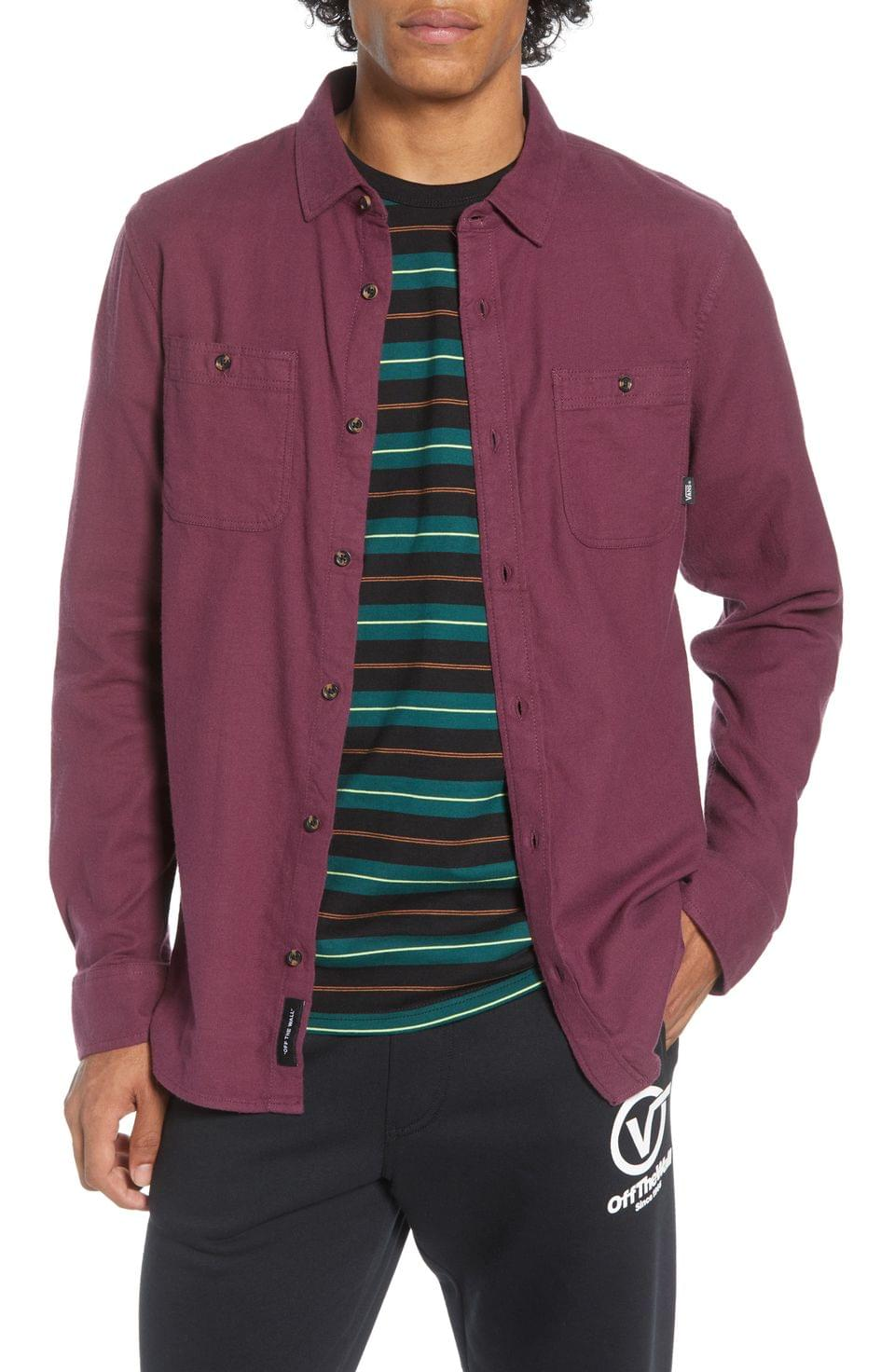Men's Vans Banfield III Solid Button-Up Twill Shirt
