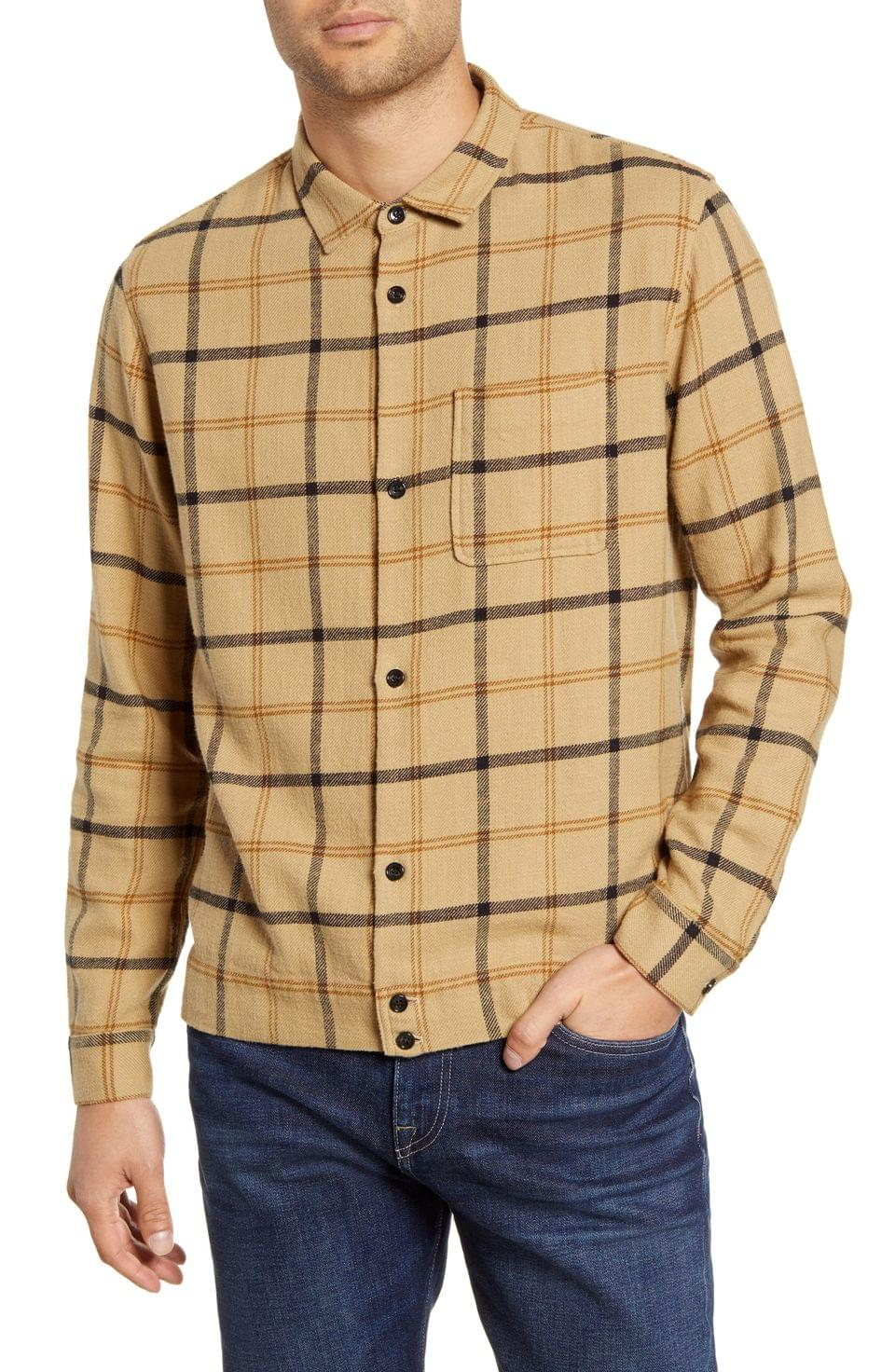 Men's BLDWN Dodd Regular Fit Button-Up Flannel Shirt Jacket