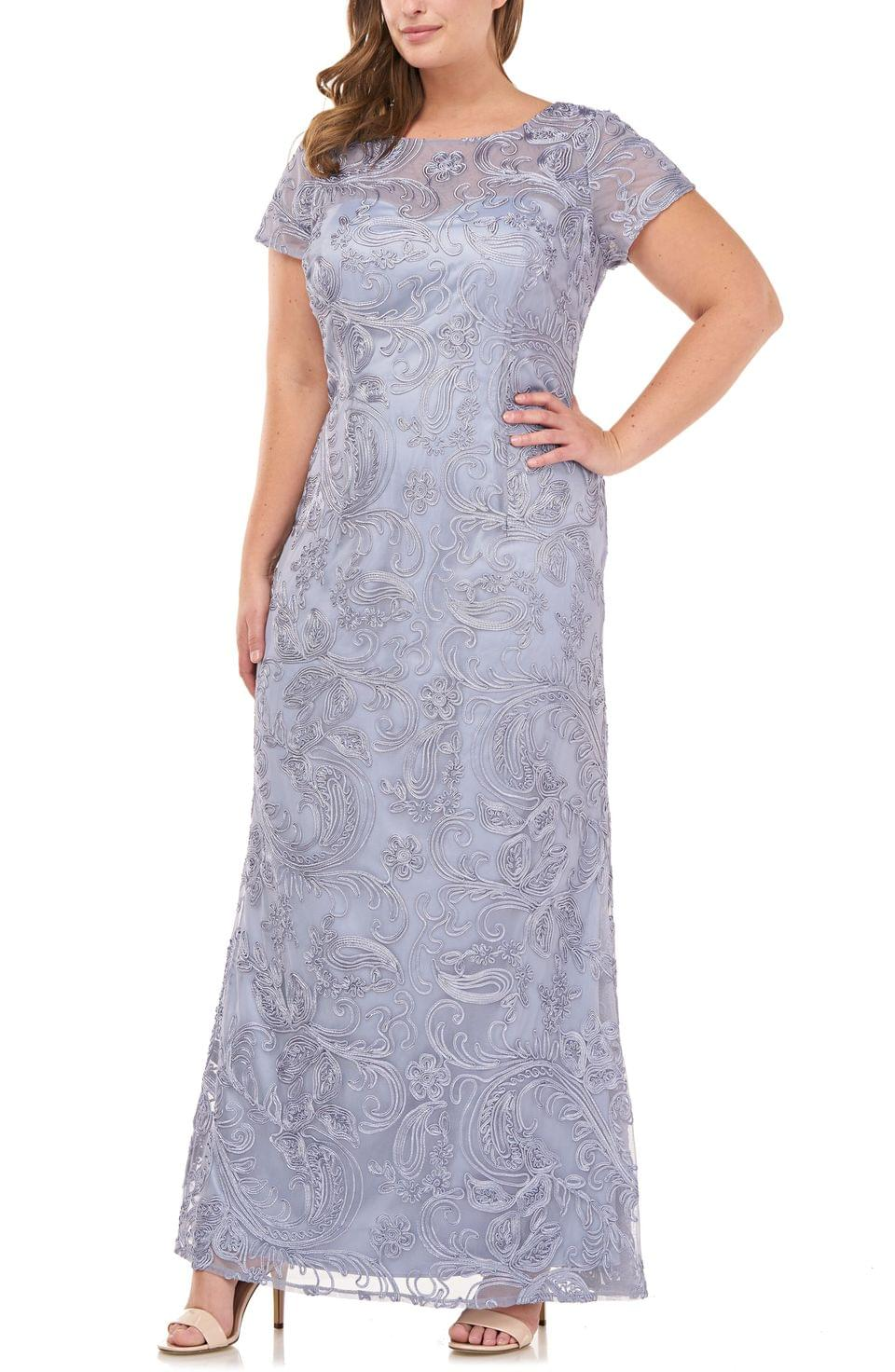 Women's JS Collections Soutache Lace Gown (Plus Size)
