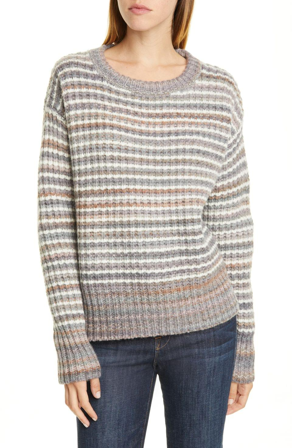 Women's Nordstrom Signature Stripe Wool Blend Pullover