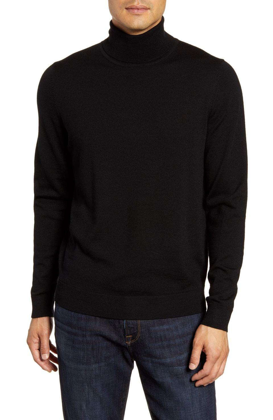 Men's Nordstrom Men's Shop Merino Wool Turtleneck Sweater