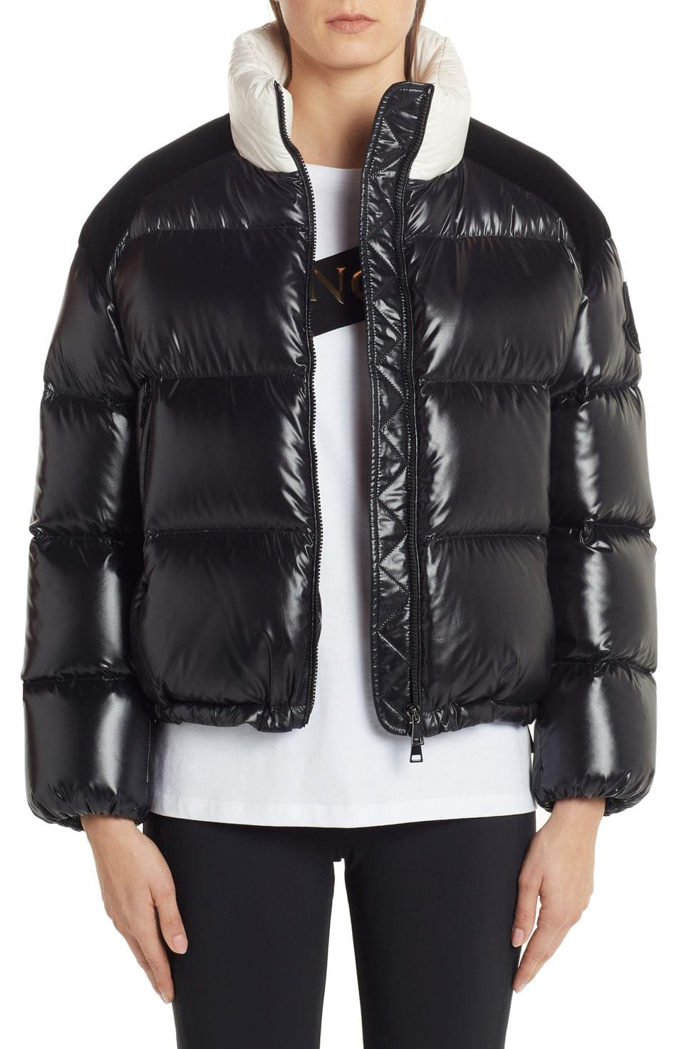 Women's Moncler Chouelle Logo Print Quilted Down Puffer Jacket
