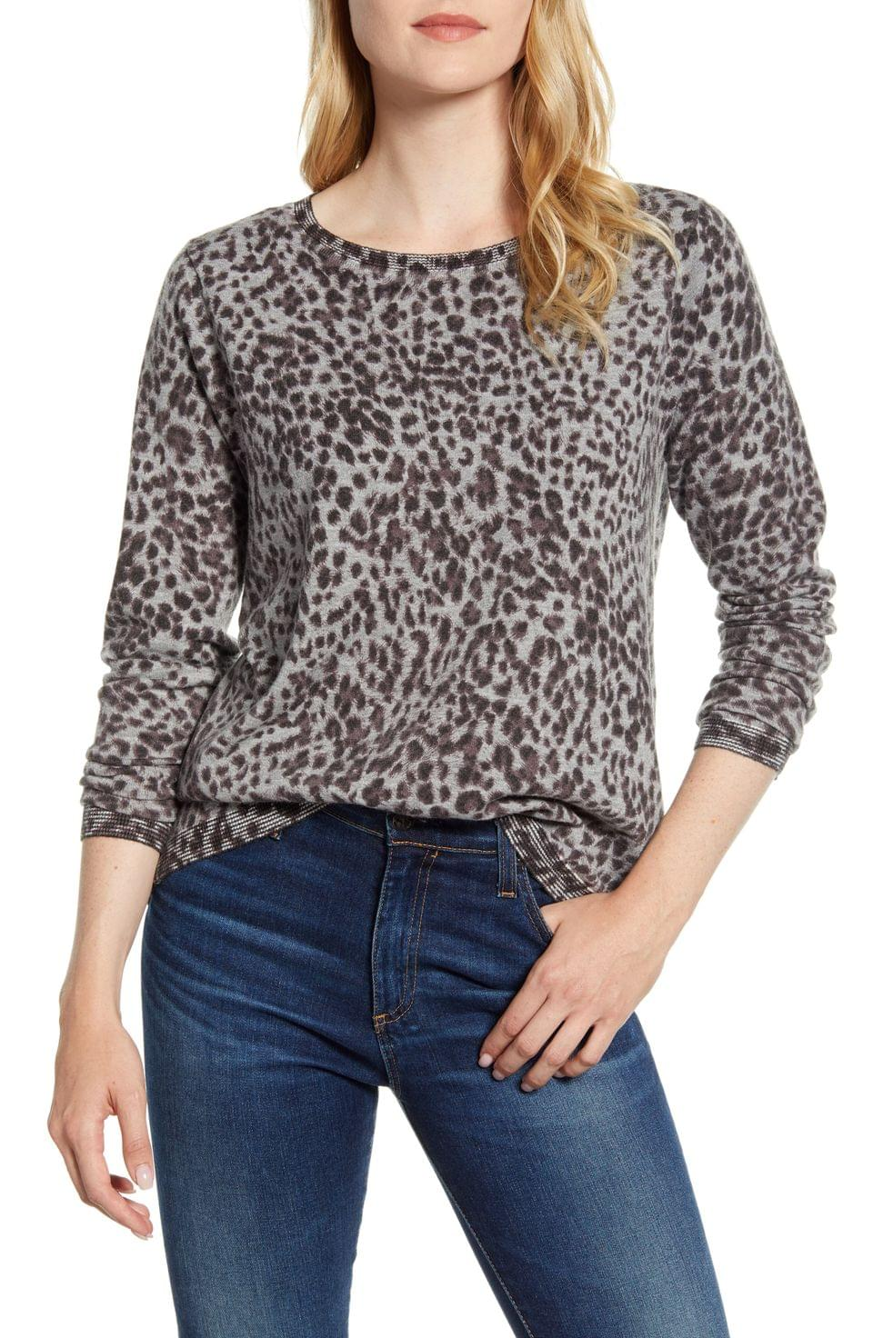Women's Wit & Wisdom Back Button Long Sleeve Sweater (Nordstrom Exclusive)