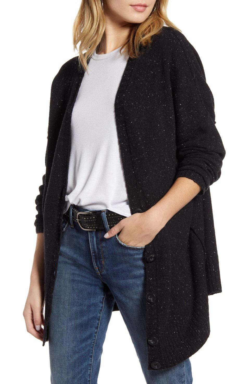 Women's Treasure & Bond Reverse Stitch Cardigan