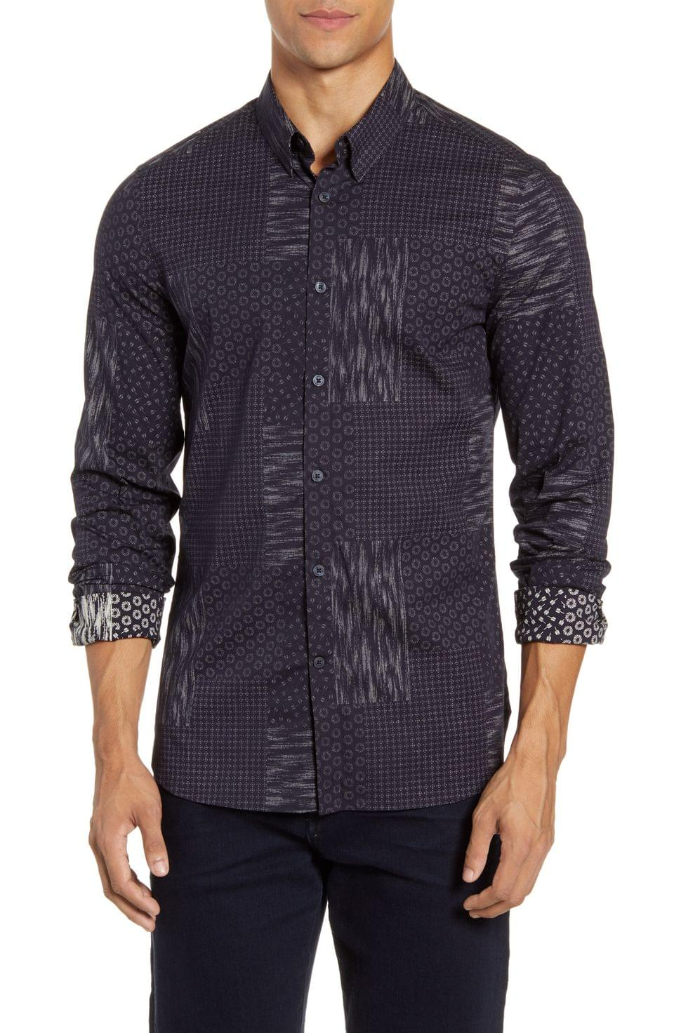 Men's French Connection Sobo Slim Fit Button-Up Shirt