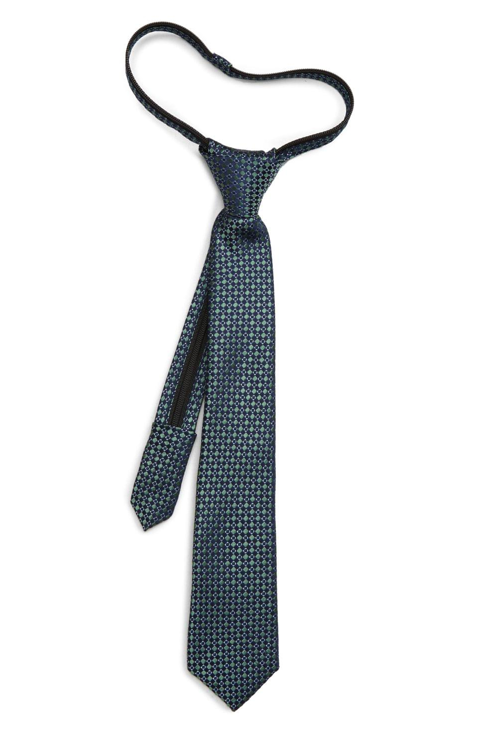 Boy's Nordstrom Alexis Geometric Silk Zipper Tie (Big Boys)