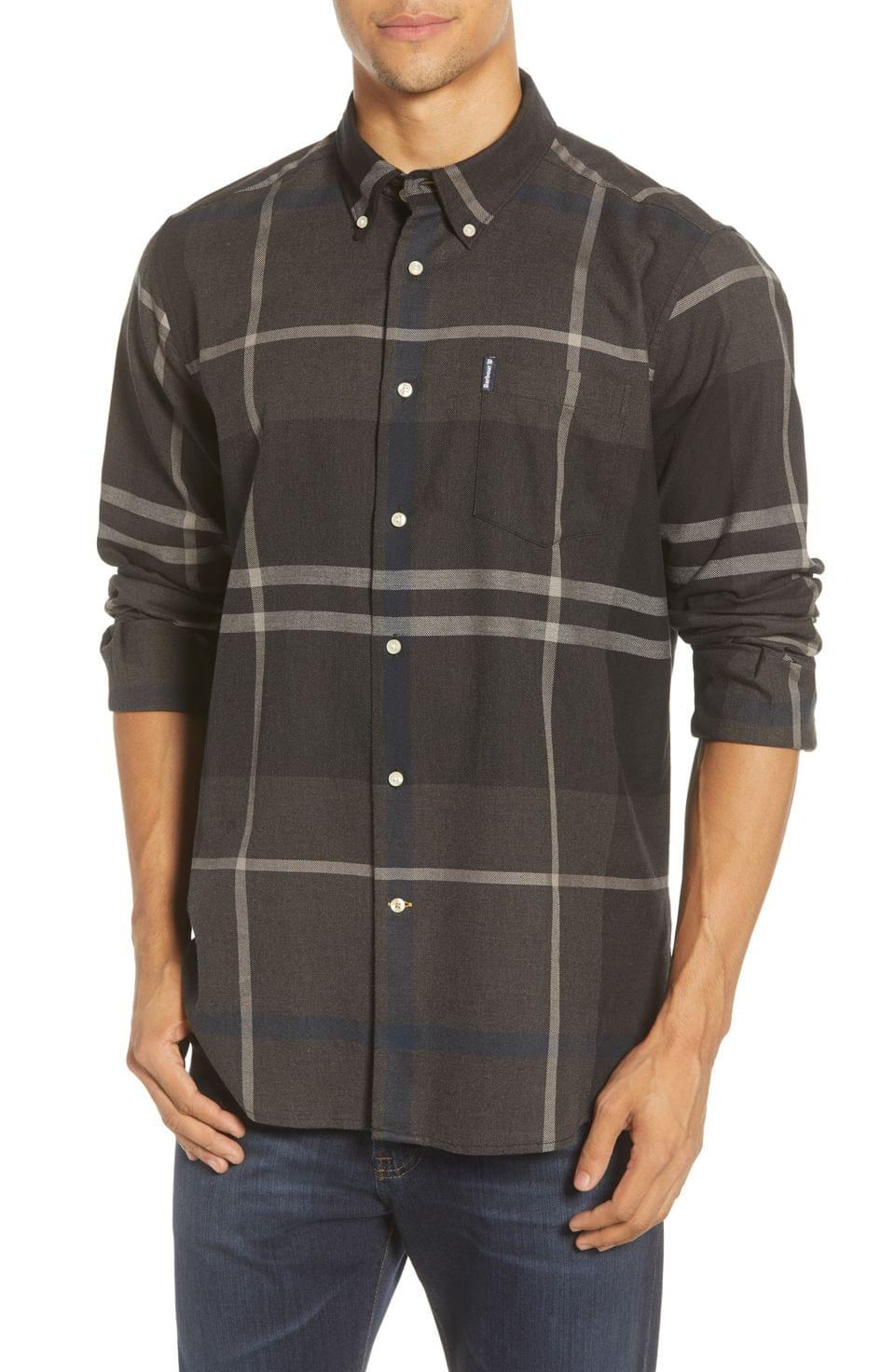Men's Barbour Dunoon Tailored Fit Button-Down Cotton Shirt