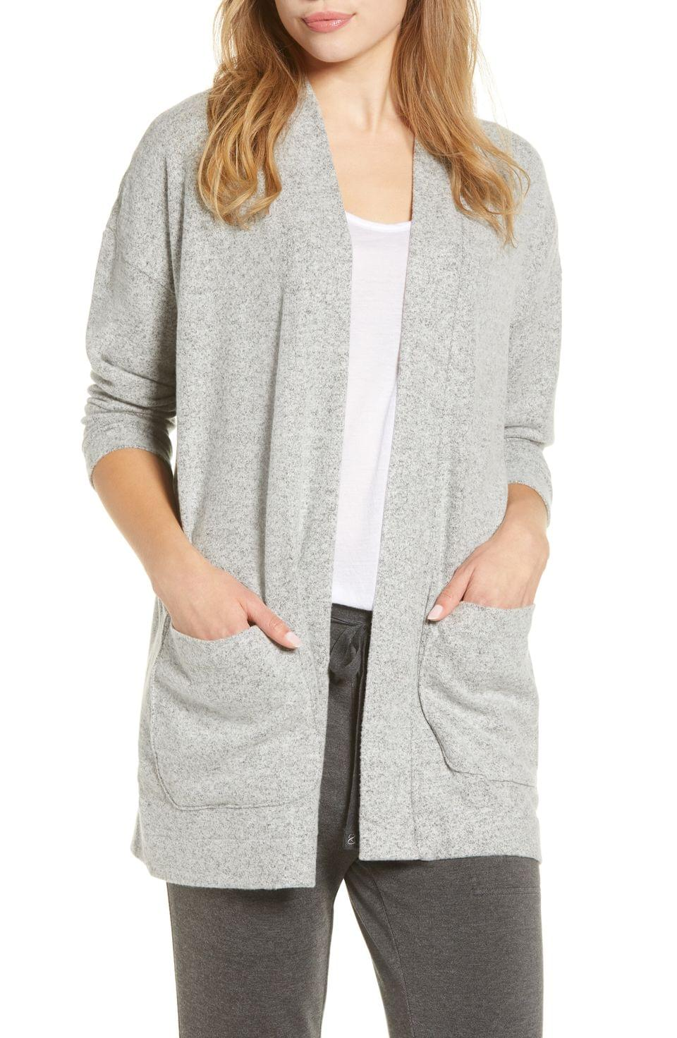 Women's Lou & Grey Brushed Open Cardigan