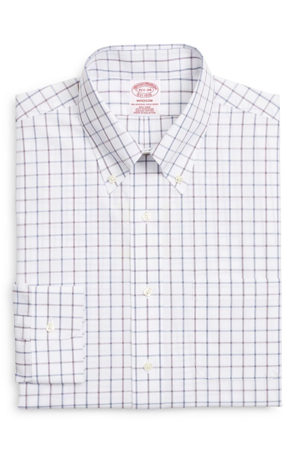 Men's Brooks Brothers Madison Classic Fit Windowpane Dress Shirt