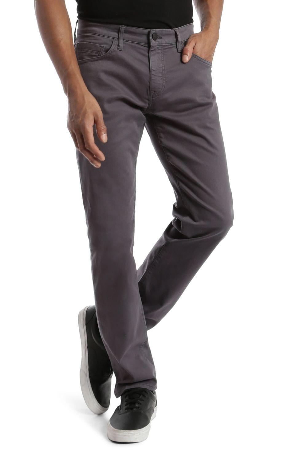 Men's Mavi Jeans Zach Straight Leg Jeans (Blackened Pearl Sateen)