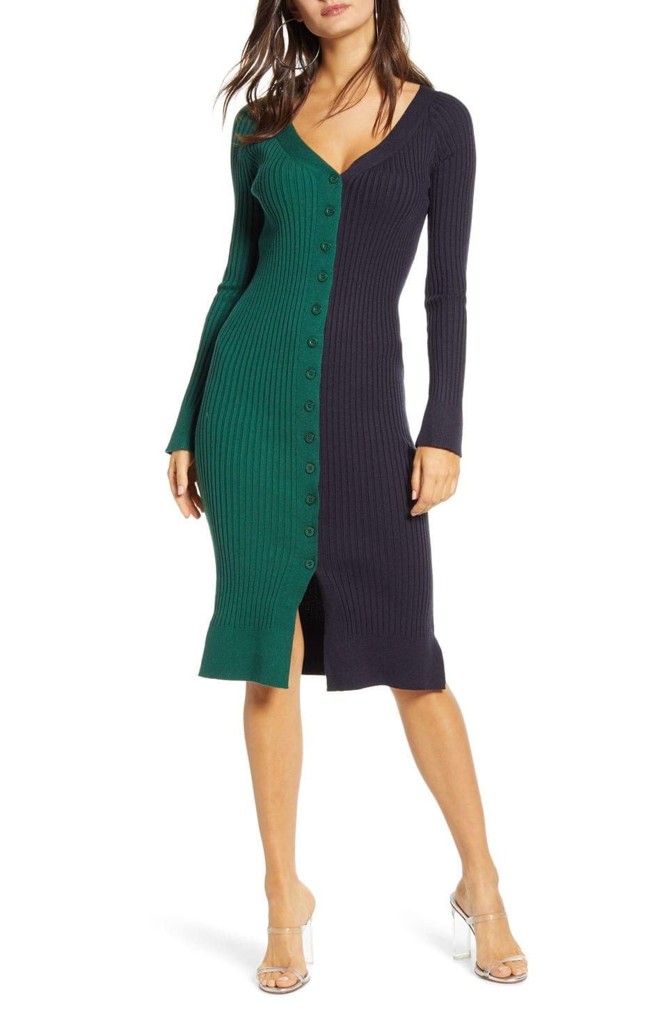 Women's J.O.A. V-Neck Sweater Dress