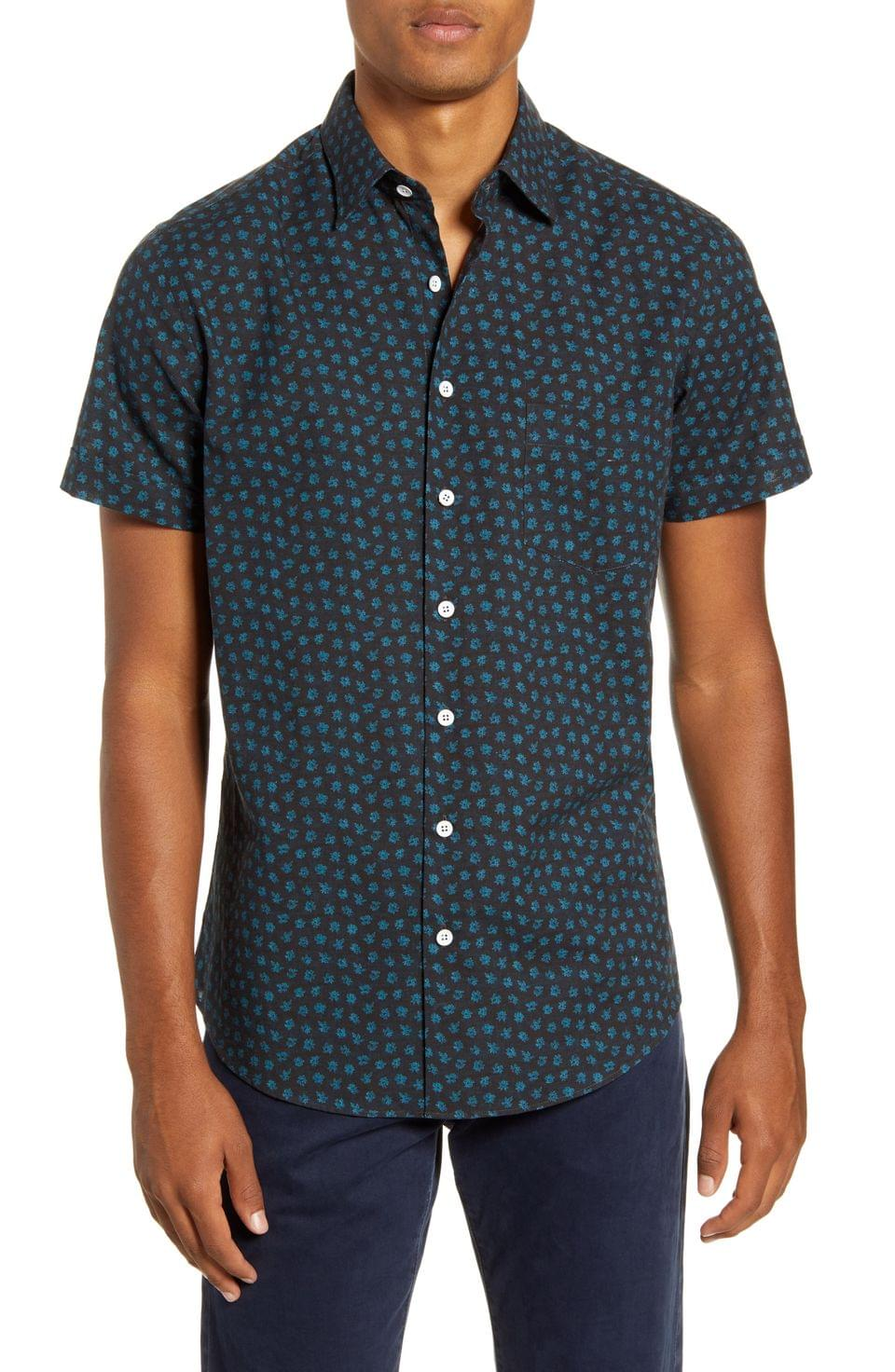 Men's Rodd & Gunn Bayview Road Regular Fit Floral Short Sleeve Button-Up Shirt