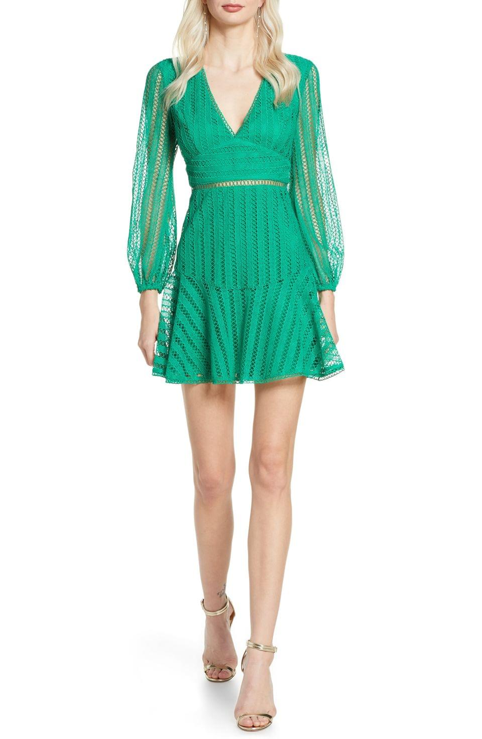 Women's Bardot Ruth Long Sleeve Minidress