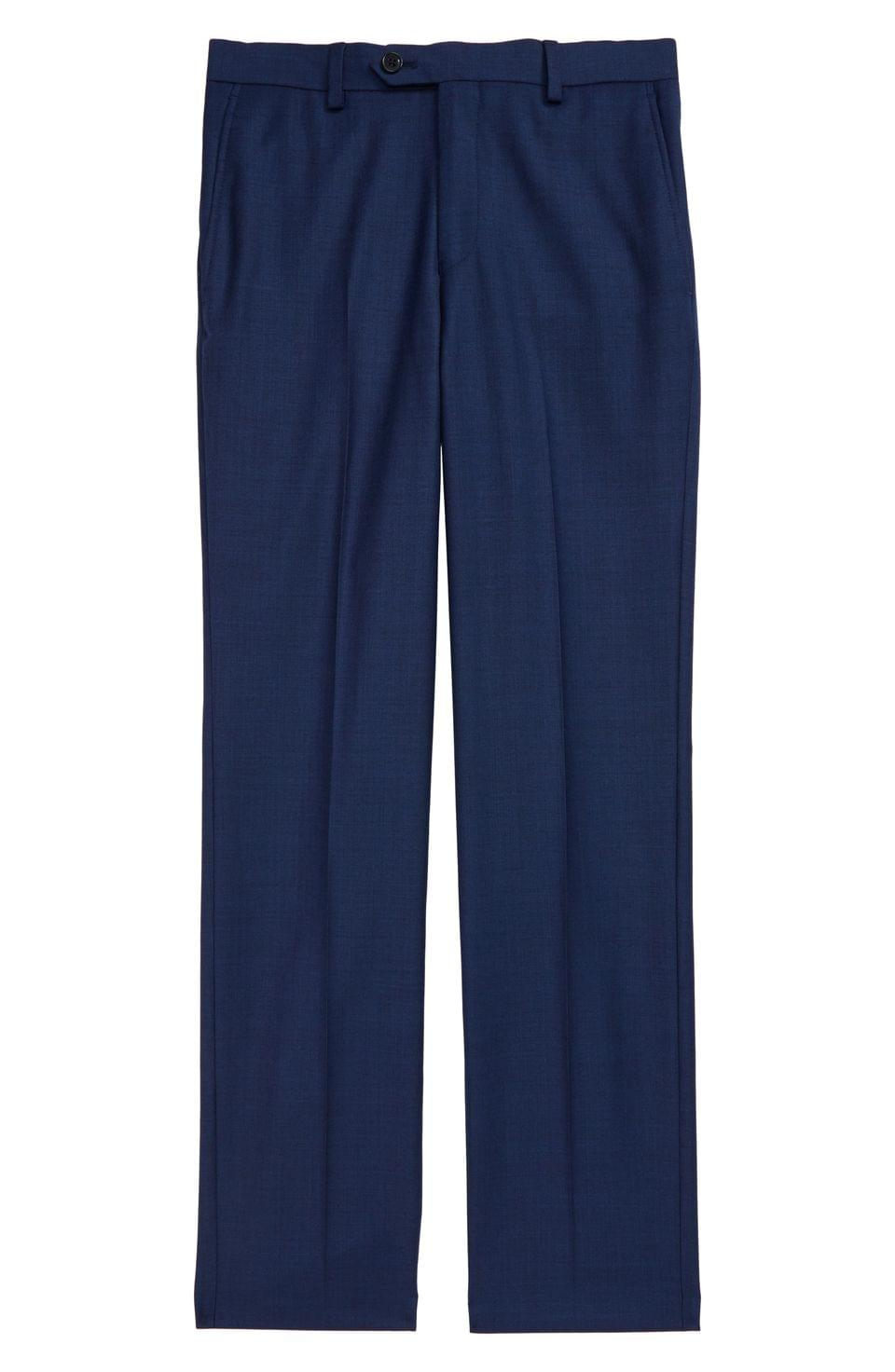Boy's Hart Schaffner Marx Flat Front Wool Pants (Big Boys)