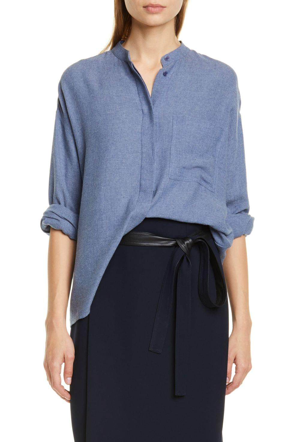 Women's Vince Oversize Cotton Blend Shirt