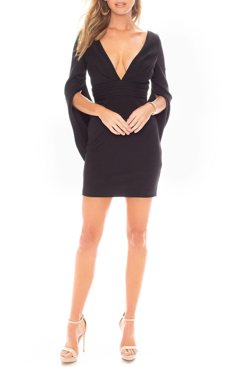 Women's Katie May Move Over Cape Sleeve Minidress