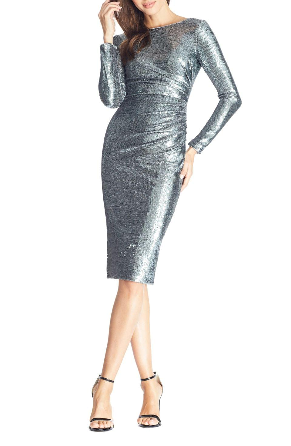 Women's Dress the Population Emilia Sequin Long Sleeve Cocktail Dress