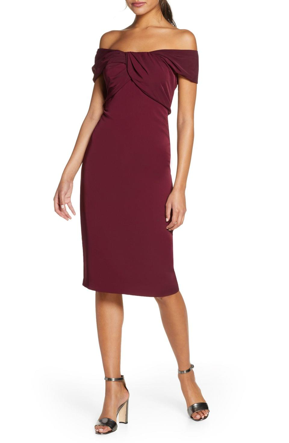 Women's Taylor Dresses Twist Detail Crepe Sheath Dress