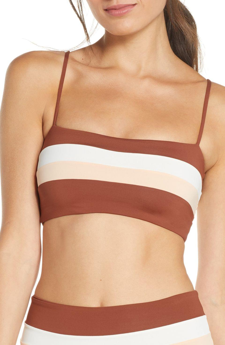 Women's L Space Rebel Stripe Bikini Top