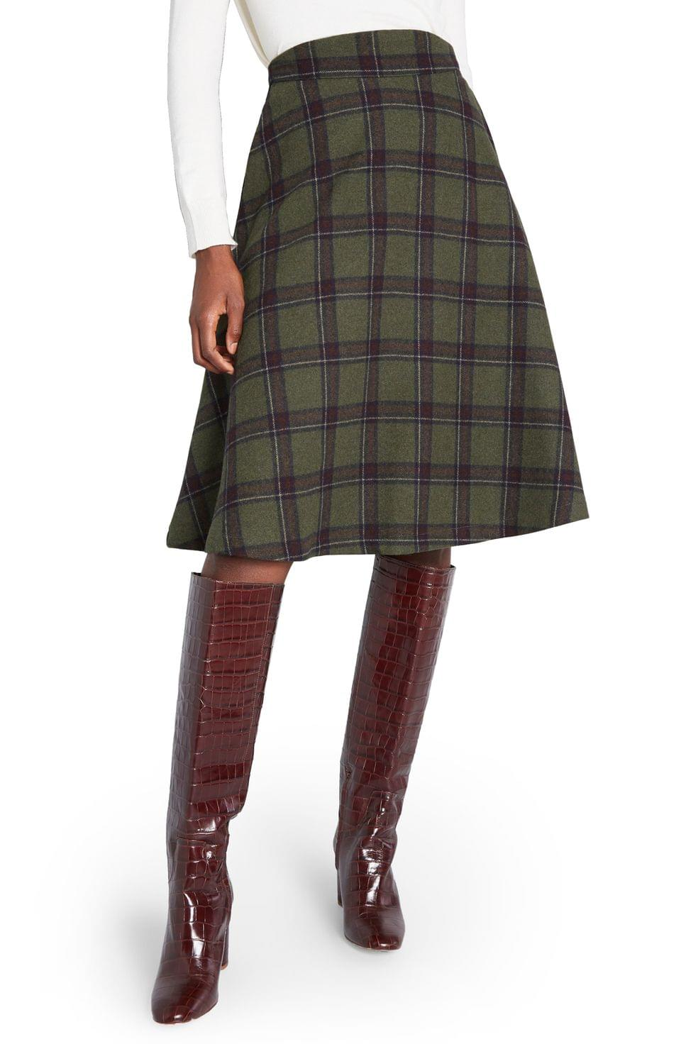 Women's ModCloth Prim Class Hero Plaid Skirt (Regular & Plus Size)