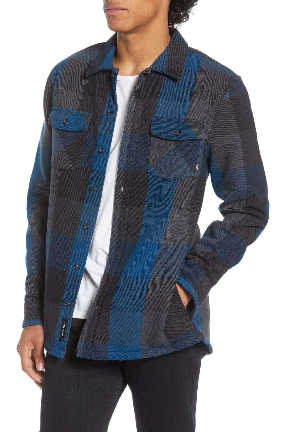 Men's Vans Hixon IV Buffalo Plaid Button-Up Twill Shirt Jacket