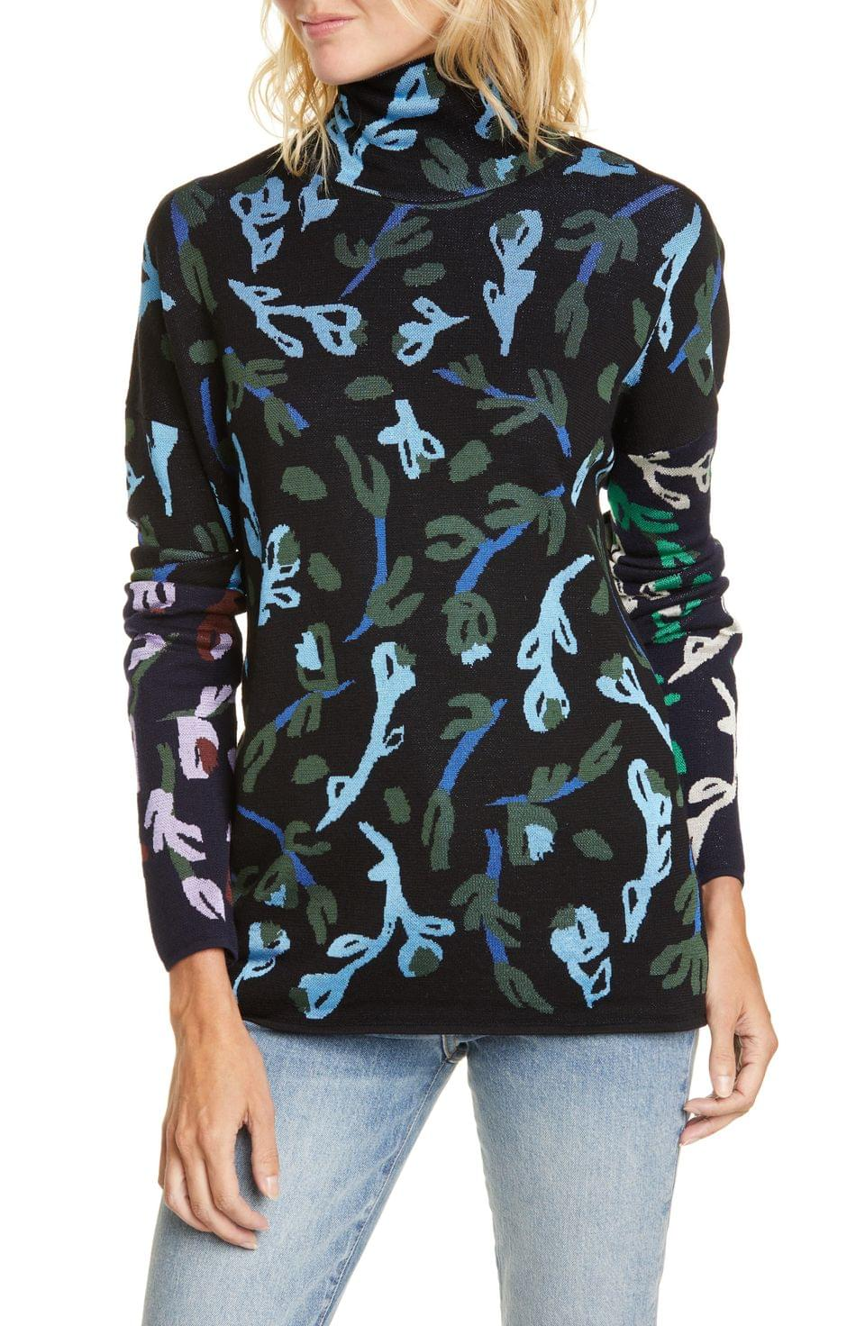 Women's Christian Wijnants Kajena Floral Jacquard Sweater