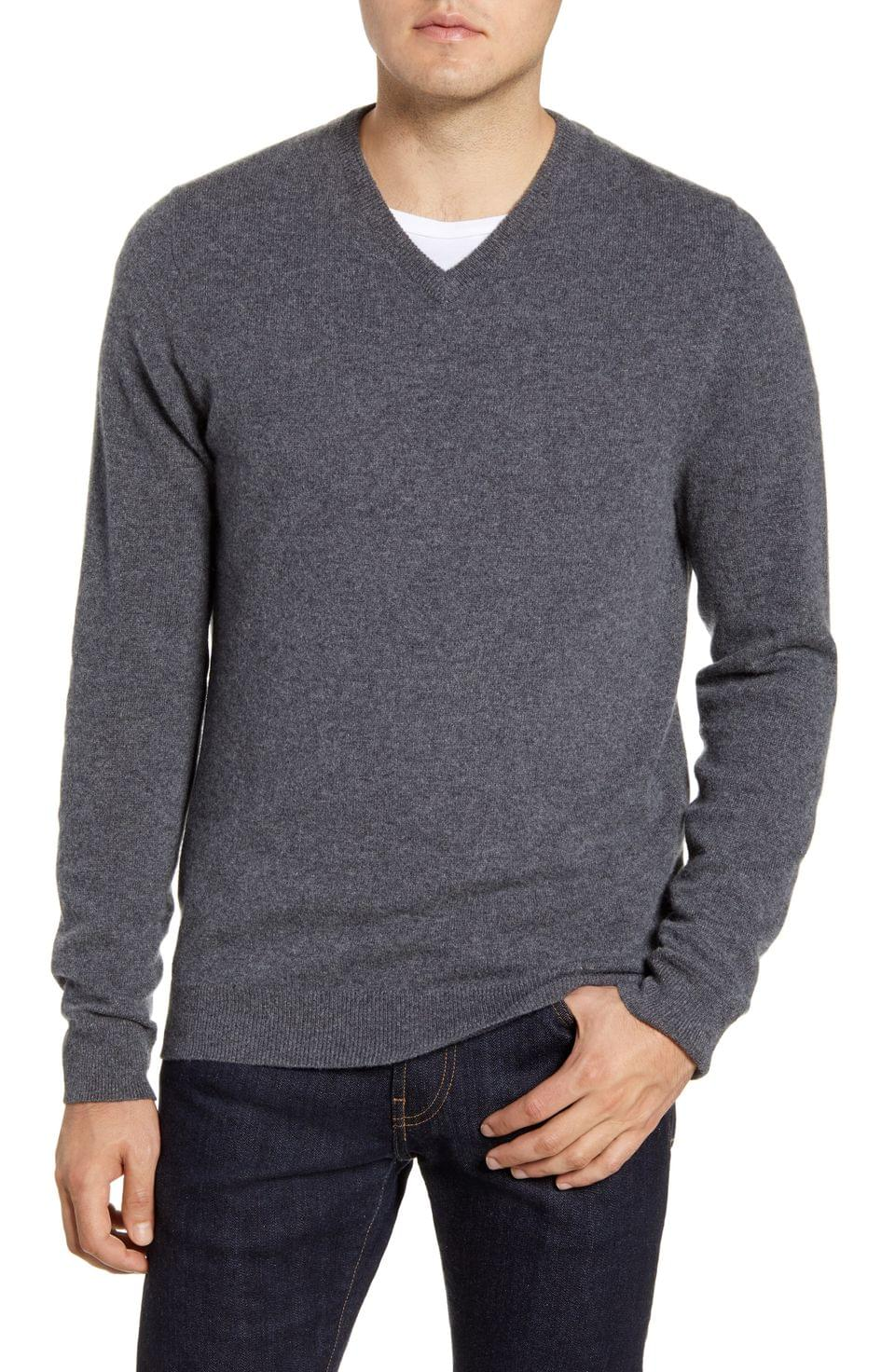 Men's Nordstrom Men's Shop Cashmere V-Neck Sweater