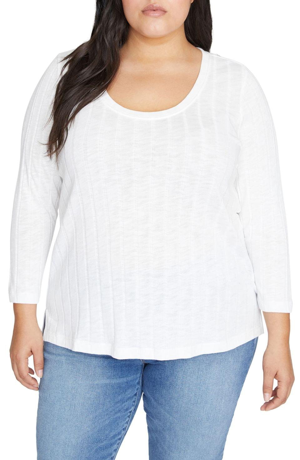 Women's Sanctuary Ruby Ribbed Knit Top (Plus Size)