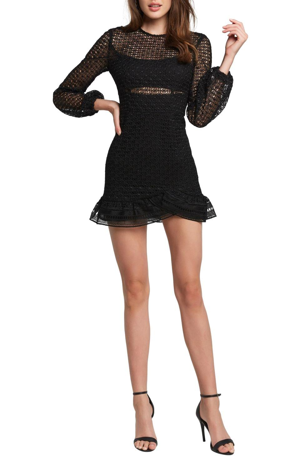 Women's Bardot Savannah Long Sleeve Lace Minidress