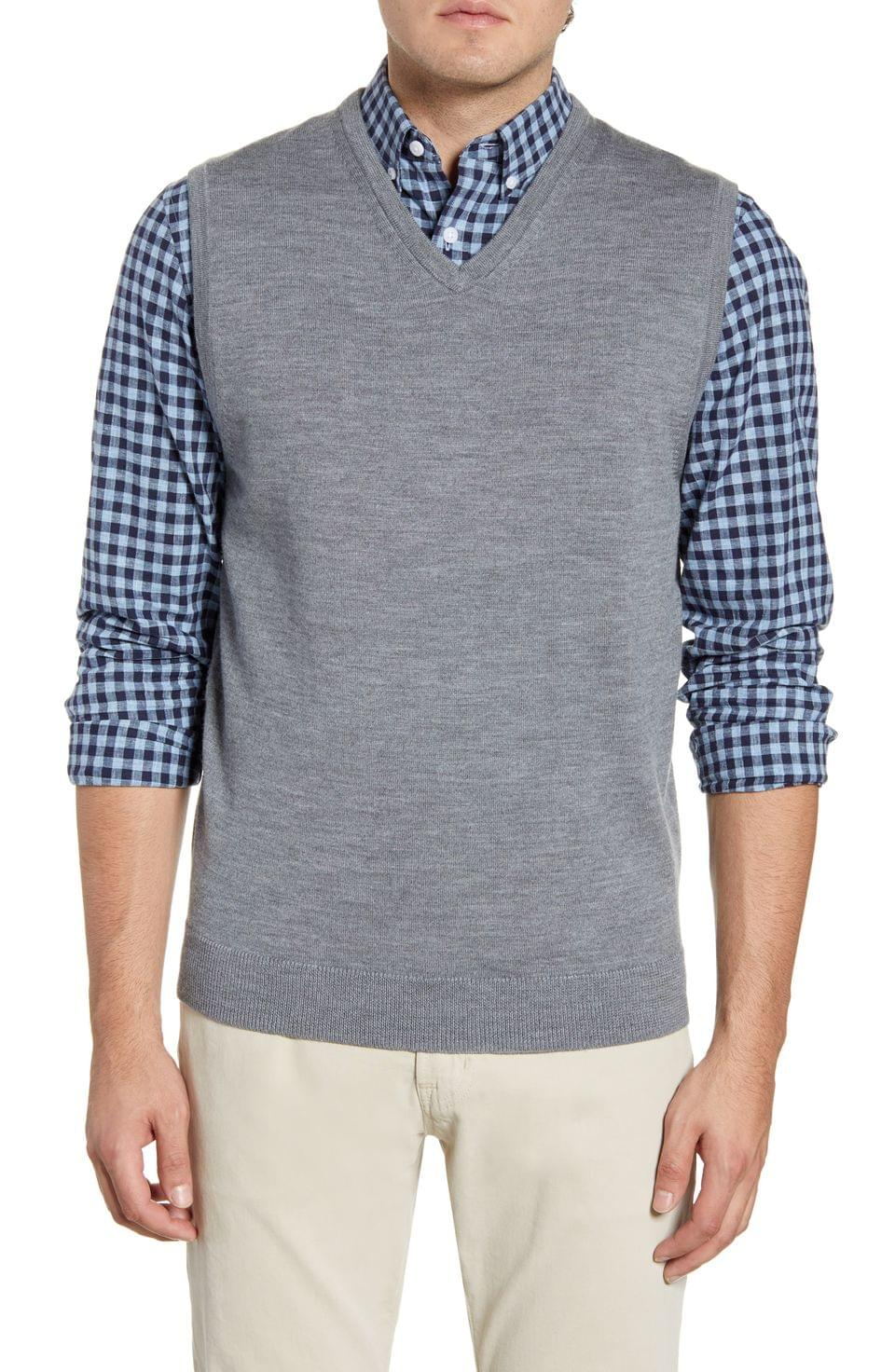 Men's Nordstrom Men's Shop Merino Wool Sweater Vest