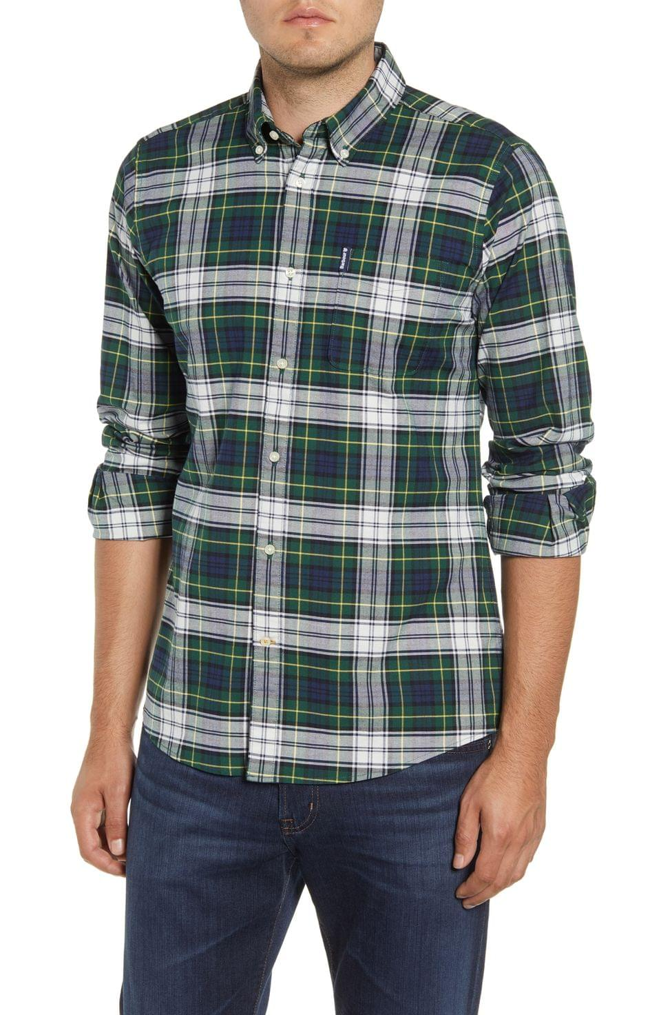 Men's Barbour Highland Check 11 Tailored Fit Button-Down Shirt