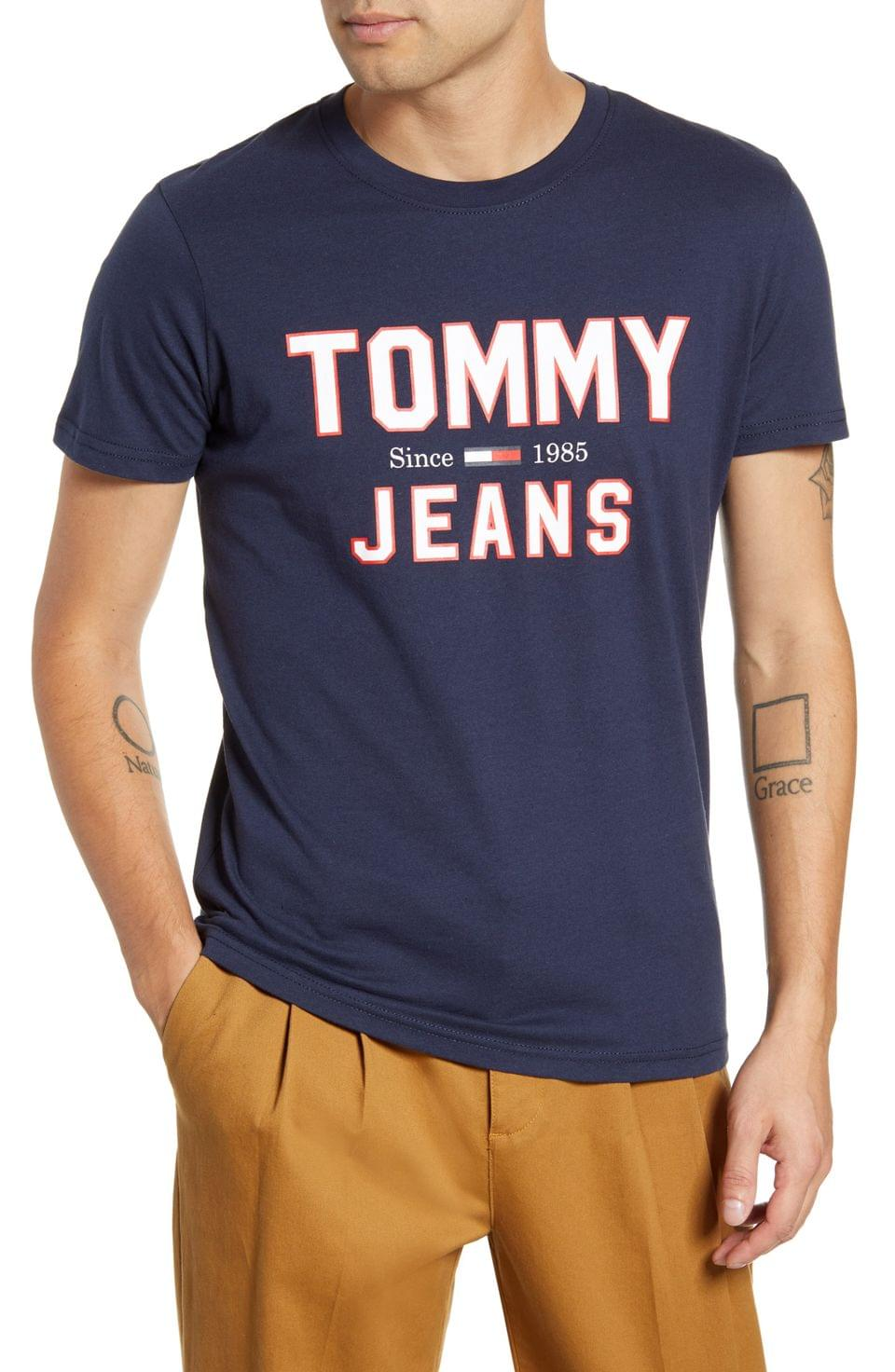 Men's TOMMY JEANS TJM Essential 1985 Logo T-Shirt