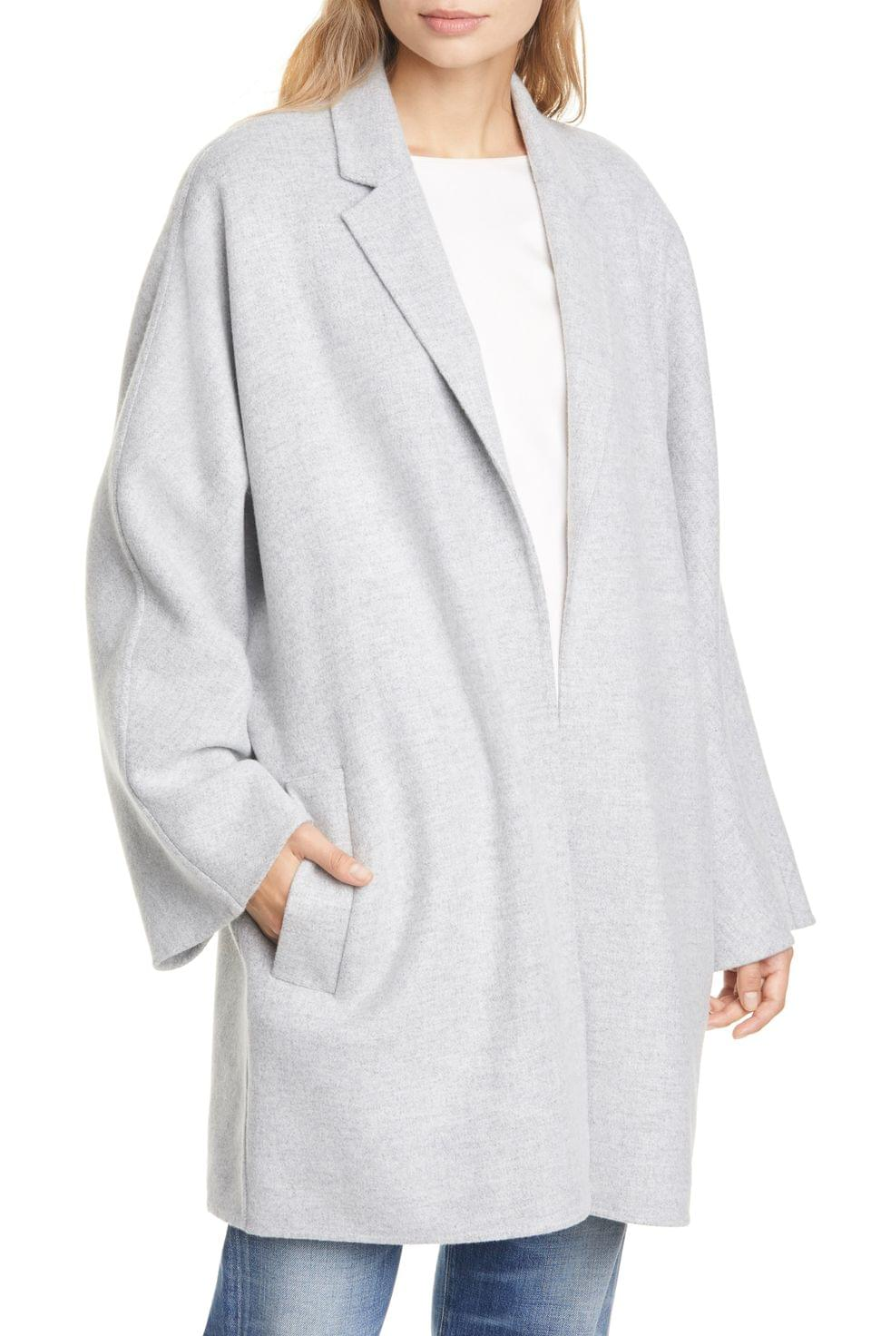 Women's Club Monaco Double Face Wrap Coat
