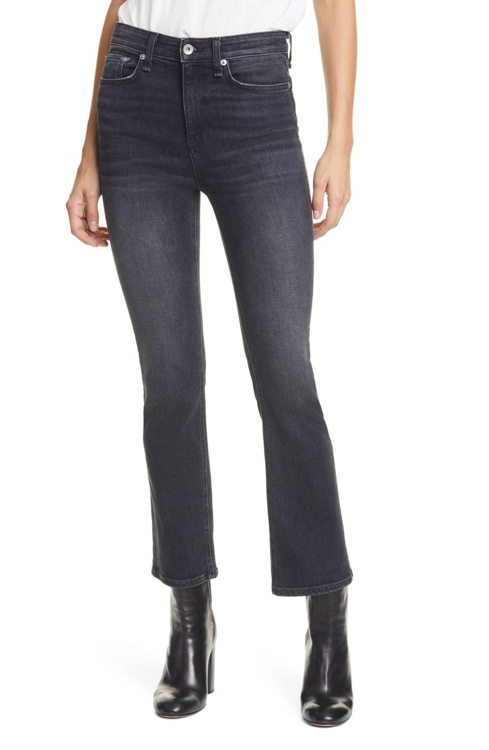 Women's rag & bone Nina High Waist Ankle Flare Jeans (Gravity)