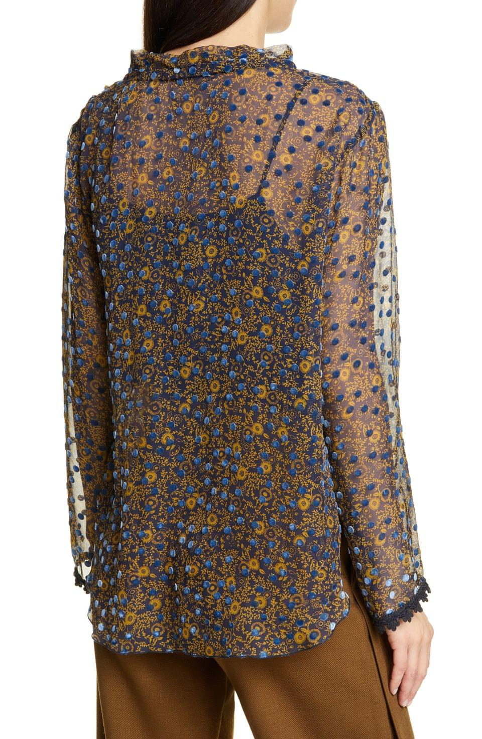 Women's See by Chlo Floral Print Silk Devor Top