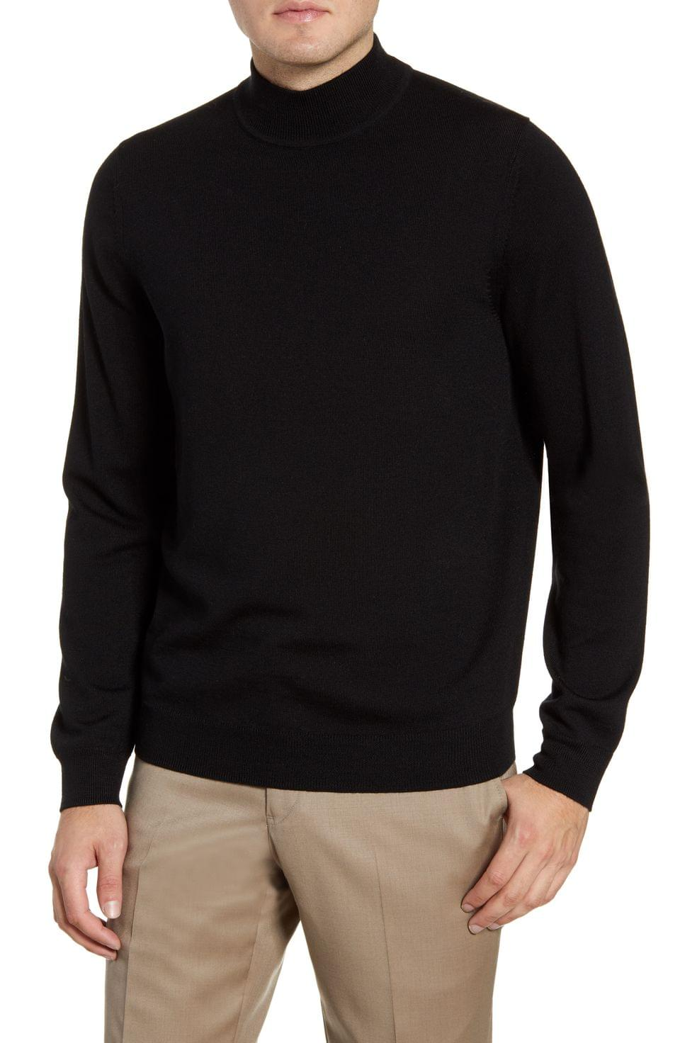 Men's Nordstrom Men's Shop Mock Neck Merino Wool Sweater