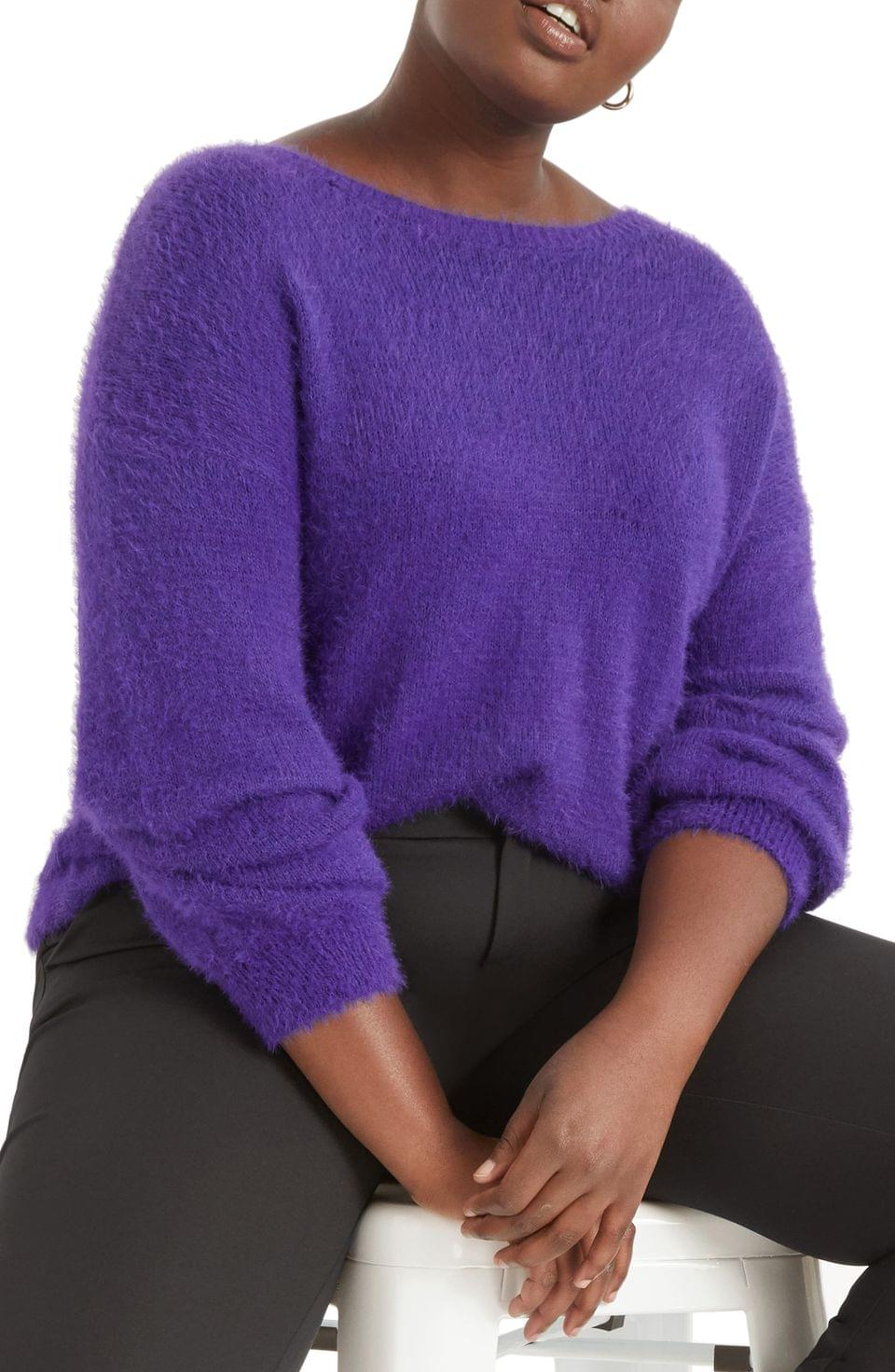 Women's ELOQUII Twist Back Sweater (Plus Size)
