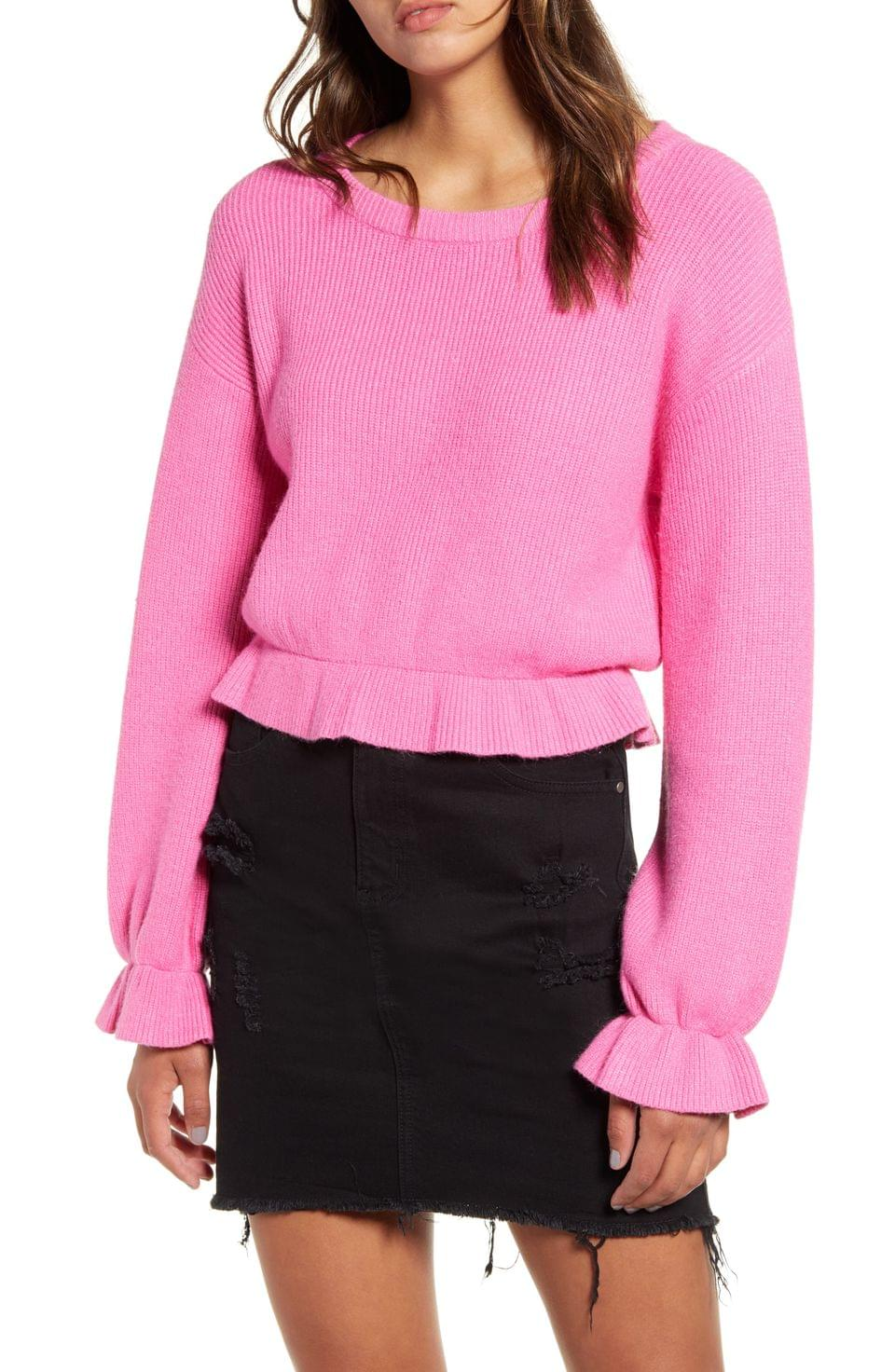 Women's MINKPINK Nora Cinch Cuff Crop Sweater