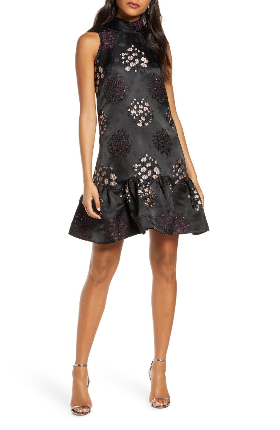 Women's Taylor Dresses Embroidered Jacquard Dress