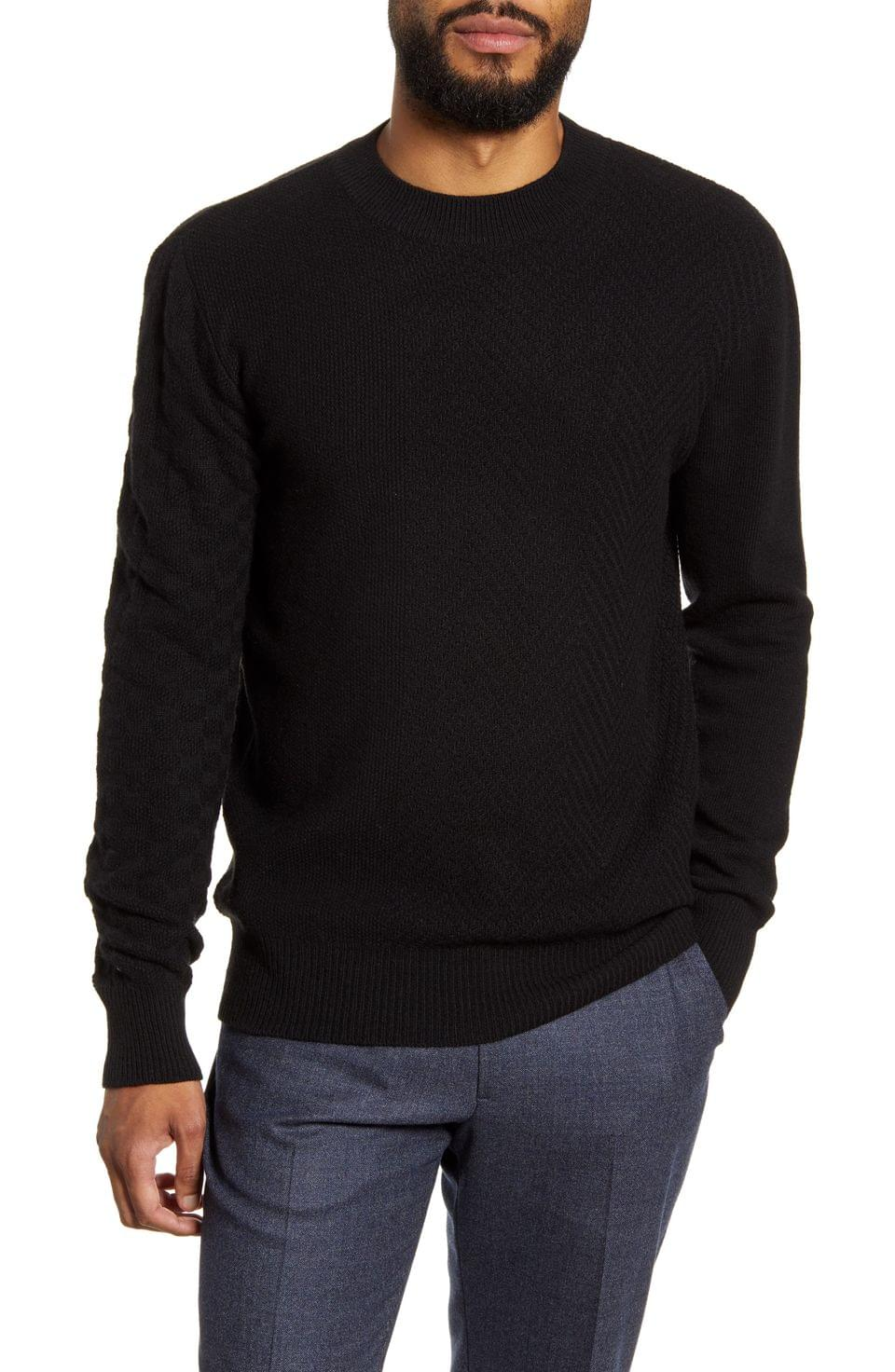 Men's Oliver Spencer Blenheim Slim Fit Crewneck Wool Sweater