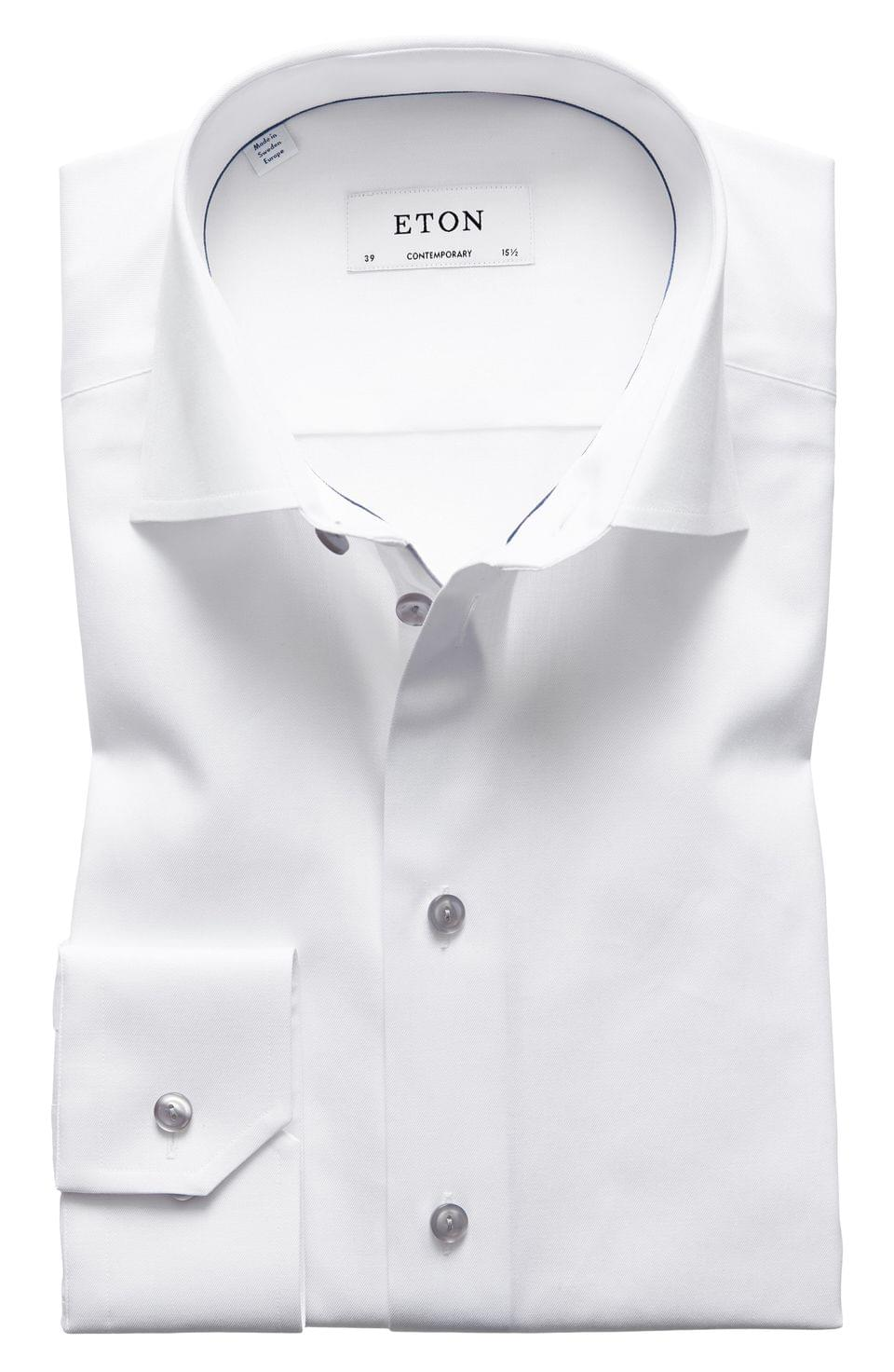 Men's Eton Contemporary Fit Twill Dress Shirt