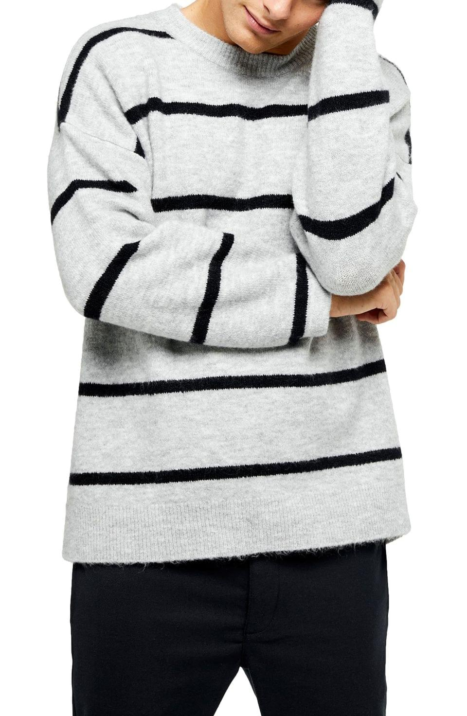 Men's Harlow Classic Fit Stripe Crewneck Sweater