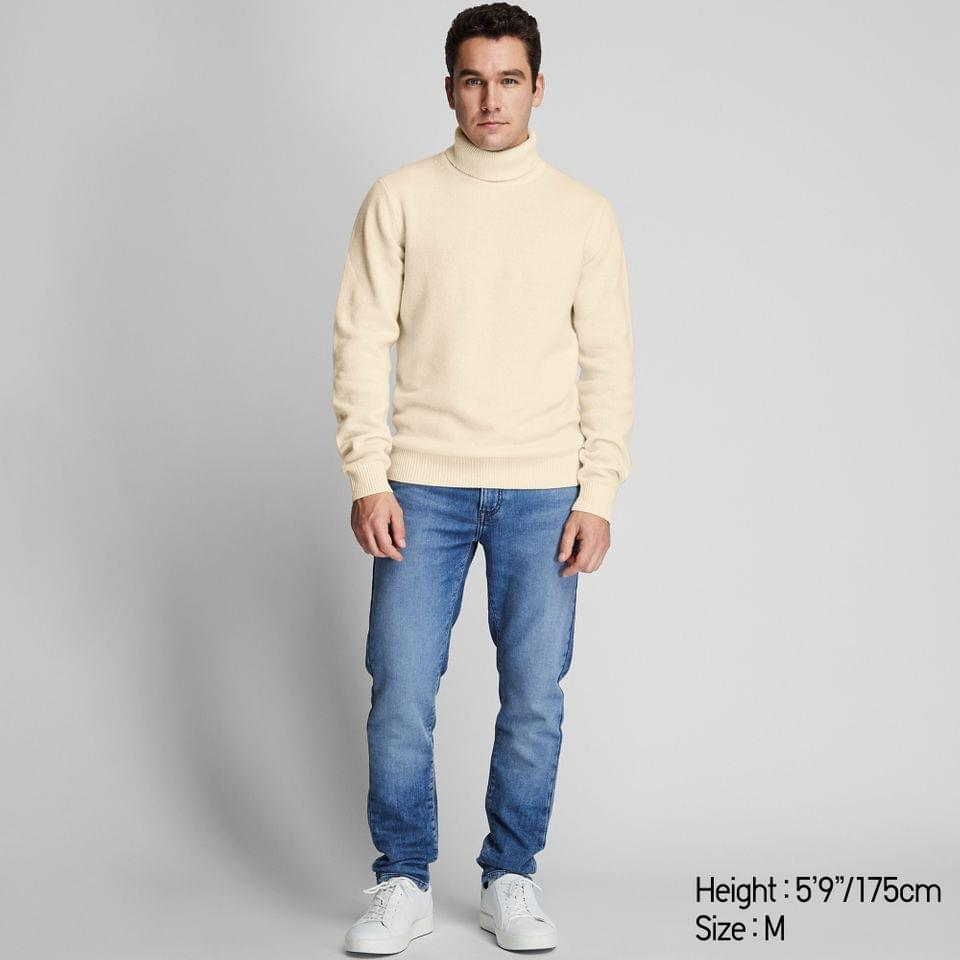 Men's MEN PREMIUM LAMBSWOOL TURTLENECK LONG-SLEEVE SWEATER