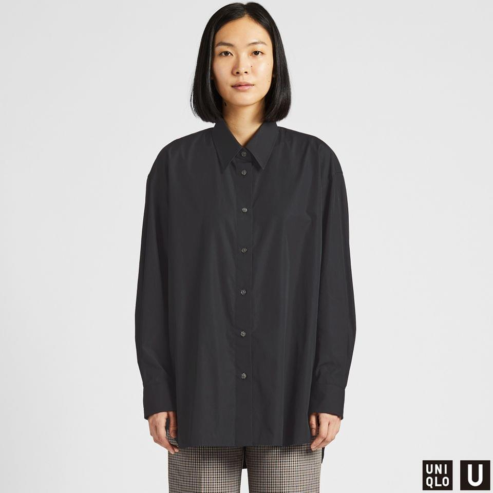 Women's WOMEN U COTTON OVERSIZED LONG-SLEEVE SHIRT