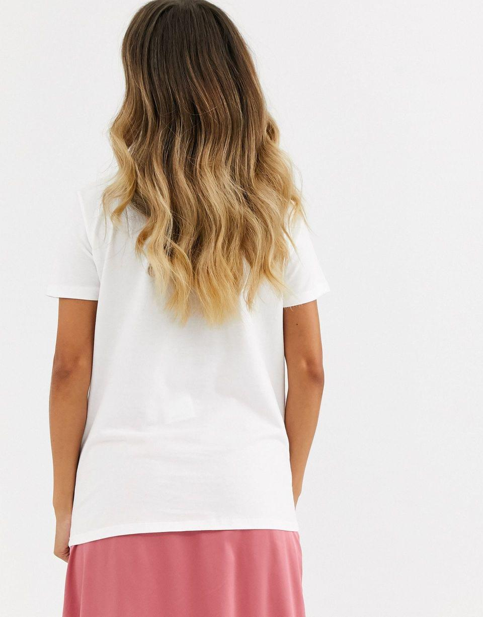 Women's t-shirt with vintage Nirvana print in organic cotton