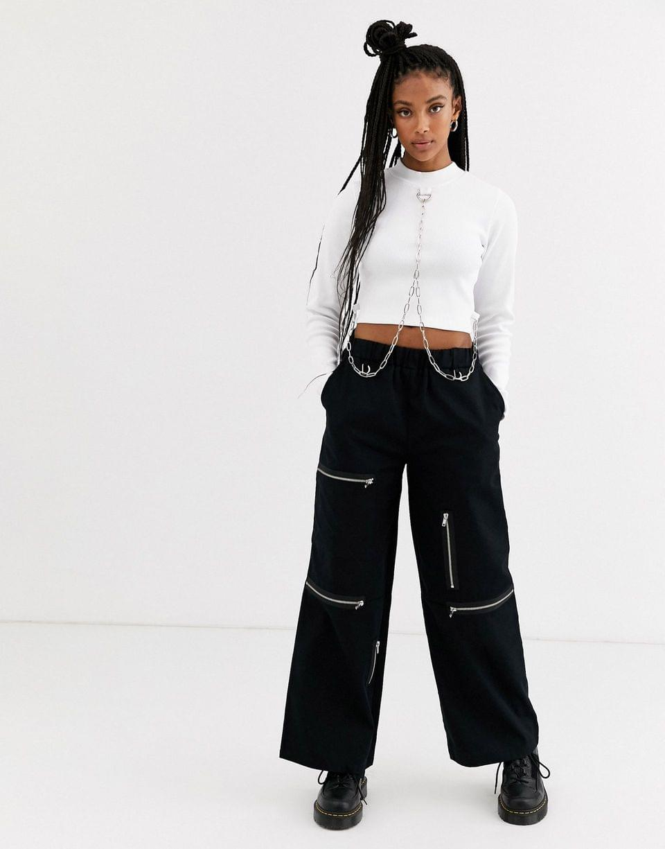 Women's The Ragged Priest crop top with chain detail