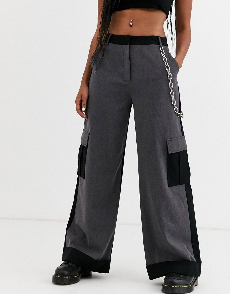 Women's The Ragged Priest wide leg pants with chain