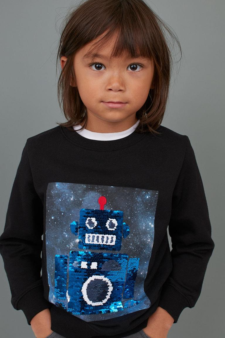 Boy's Shirt with Reversible Sequins