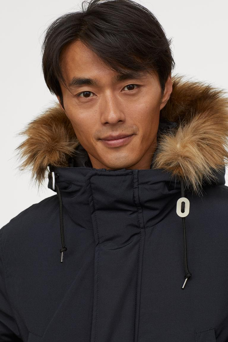Men's Padded Parka with Hood